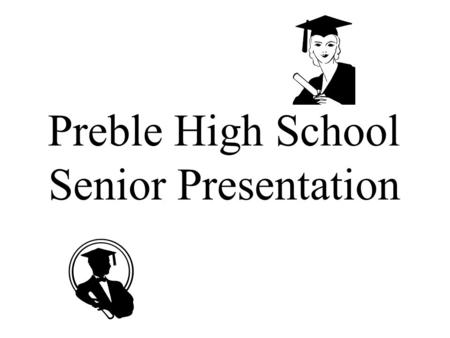 Preble High School Senior Presentation. Learning Objectives How does this senior presentation help me plan and transition from high school to my post-high.