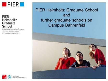 PIER Helmholtz Graduate School and further graduate schools on Campus Bahrenfeld.