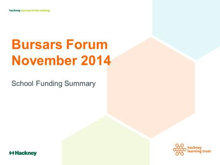 Bursars Forum November 2014 School Funding Summary.