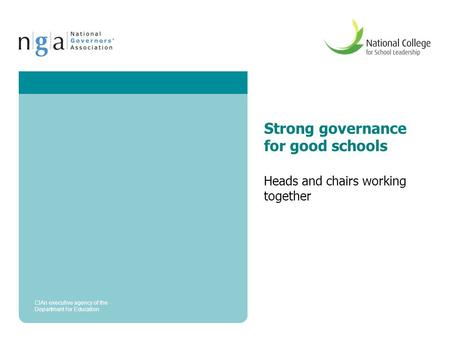 Strong governance for good schools