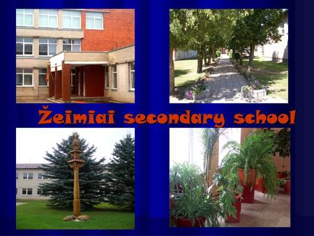 Žeimiai secondary school. Our school is not big, but it is very nice. It was build in 1557. In our school there arelearning 254 students. School hadmaster.