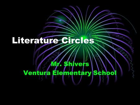 Mr. Shivers Ventura Elementary School