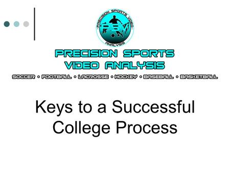 Keys to a Successful College Process. The View from 20,000 Feet.