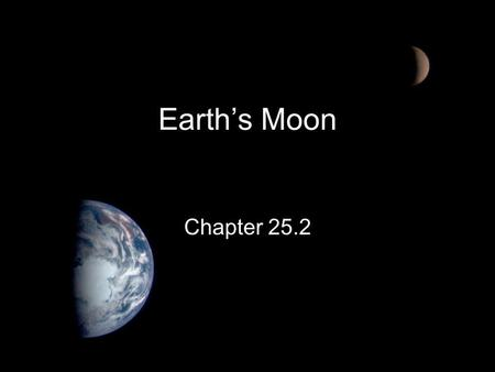 <strong>Earth</strong>'s Moon Chapter 25.2.