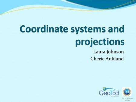 Coordinate systems and projections
