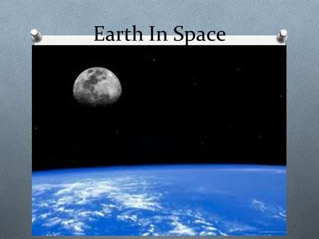 Earth In Space. How Earth Moves O EARTH MOVES THROUGH SPACE IN TWO MAJOR WAYS. O ROTATION O REVOLUTION.