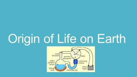 Origin of Life on Earth. Conditions on early Earth made the origin of life possible Physical and chemical processes on Earth may have produces simple.