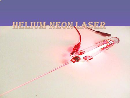 ECE 631 nics and Devices Gas Laser He Ne #1: big thumb