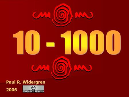 Paul R. Widergren 2006. Let's count from 10 to 20.