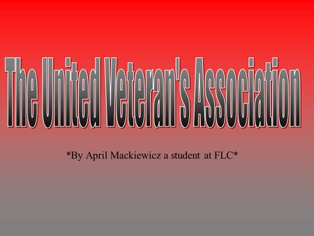 *By April Mackiewicz a student at FLC*. Willy is a homeless vet who started working and living at the VA since around 1995.He first started staying.