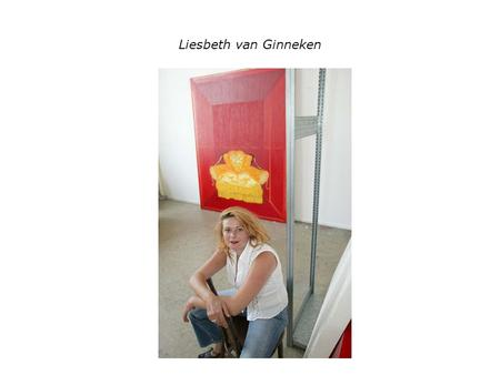 Liesbeth van Ginneken. First Lady 2001 formaat 200 cm x 250 cm olieverf op doek, serie Painted Ladies.