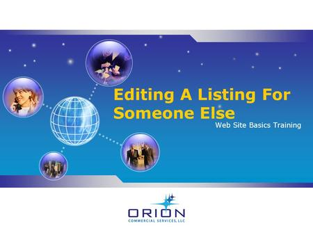 Editing A Listing For Someone Else Web Site Basics Training.