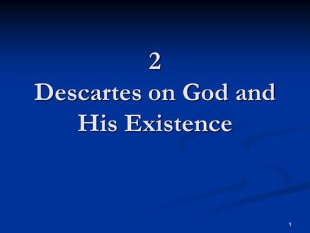 Essays on descartes third meditation