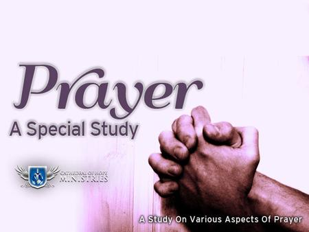 How God Answers Prayer Introduction In our study on prayer, we have examined... – The purpose of prayer – The power of prayer – The privilege of prayer.