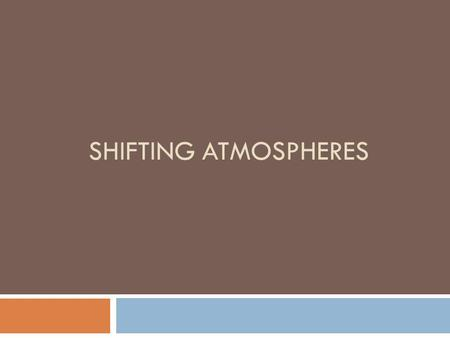 SHIFTING ATMOSPHERES. Content of this workshop 1. What is an atmosphere? 2. What does the bible say about dealing with atmospheres?  Warfare between.