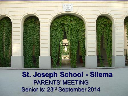 Senior Is: 23rd September 2014