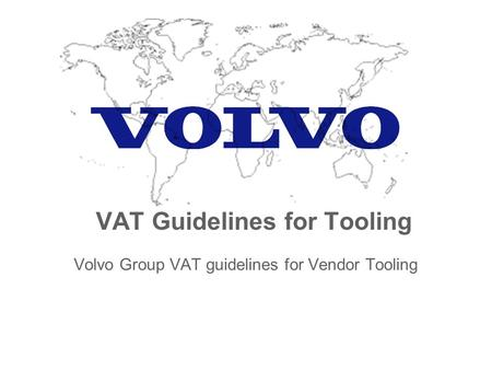 VAT Guidelines for Tooling