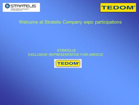 Welcome at Stratelis Company expo participations