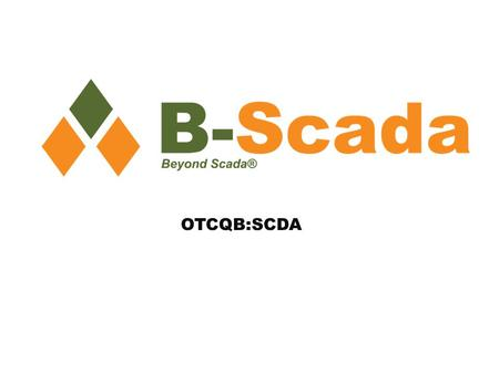 OTCQB:SCDA. Note Regarding Forward Looking Statements This presentation contains forward-looking statements that involve known and unknown risks and uncertainties.