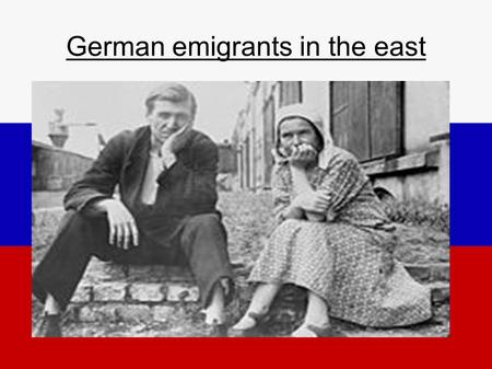 German emigrants in the east. Table of Contents ● Vocabulary ● Timeline ● Catharina the Great ● Picture of Katharina II. ● Reasons to go to Russia ● Emigrants.