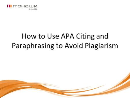 How to Use APA Citing and Paraphrasing to Avoid Plagiarism.