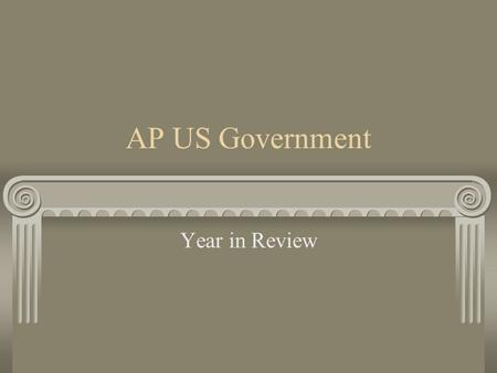 AP US Government Year in Review. Constitutional Underpinnings and Federalism Influences on the Constitution Articles of Confederation Accomplishments.