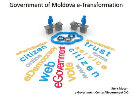 Government of Moldova e-Transformation Stela Mocan e-Government Center/Government CIO.