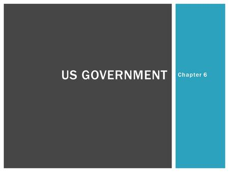 Chapter 6 US GOVERNMENT.  What are the 3 branches of government and who is the head of each? BELL RINGERMONDAY.
