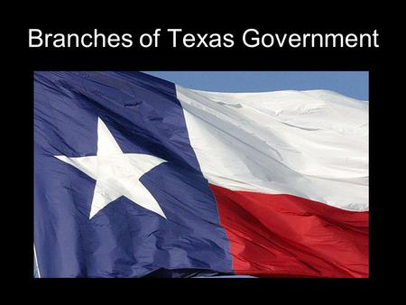 Branches of Texas Government. Texas and U.S. Constitution 3 branches of government.