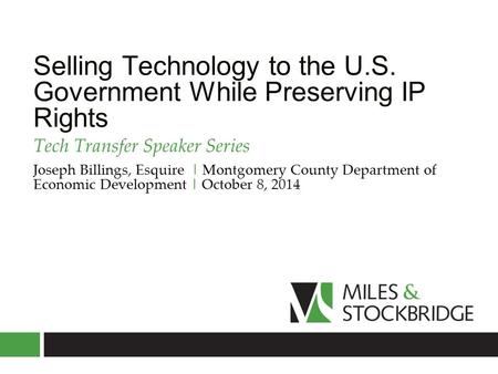 Selling Technology to the U.S. Government While Preserving IP Rights