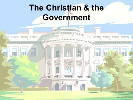 The Christian & the Government. Capital Punishment— The beginning— Genesis 9.6 After the flood 1 st principle… Protect the innocent 2 nd principle… Punish.