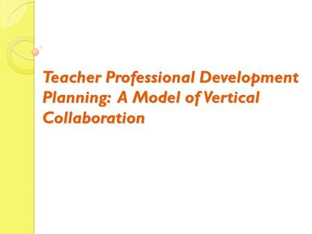 Today's Work 1. New requirements for the teacher's PDP