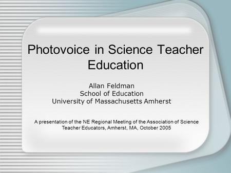 Photovoice in Science Teacher Education