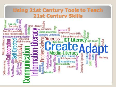 Using 21st Century Tools to Teach 21st Century Skills.