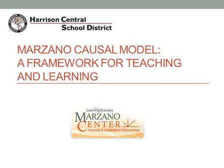 MARZANO CAUSAL MODEL: A FRAMEWORK FOR TEACHING AND LEARNING.