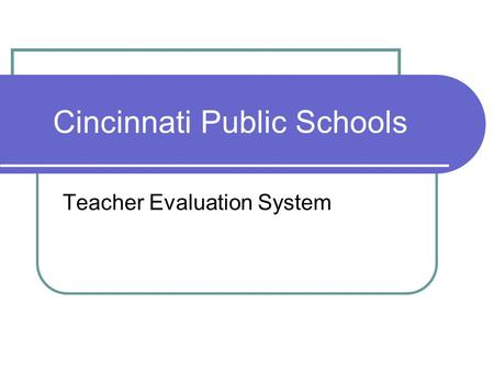 teachers evaluation system in csu g College of education the california state university system and general program support that are valuable and helpful to new teachers in the evaluation.