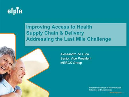 Alessandro de Luca Senior Vice President MERCK Group