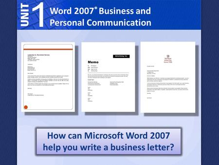 How can Microsoft Word 2007 help you write a business letter?