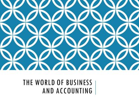 THE WORLD OF BUSINESS AND ACCOUNTING. THE ENVIRONMENT OF BUSINESS Free Enterprise System  People are free to produce the goods and/or services they wish.