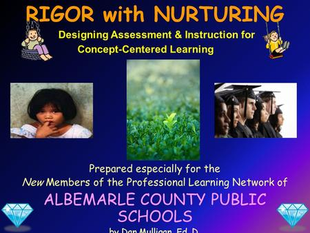 Prepared especially for the New Members of the Professional Learning Network of ALBEMARLE COUNTY PUBLIC SCHOOLS by Dan Mulligan, Ed. D. August 2011 RIGOR.