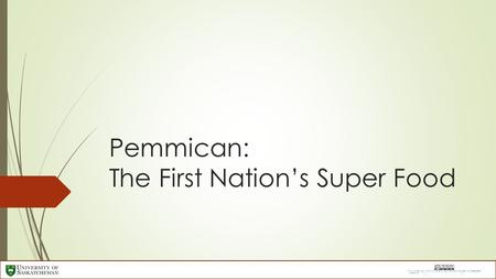 Pemmican: The First Nation's Super Food. What was it?