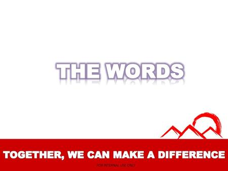 FOR INTERNAL USE ONLY. 24/7 INVITER FOR INTERNAL USE ONLY.