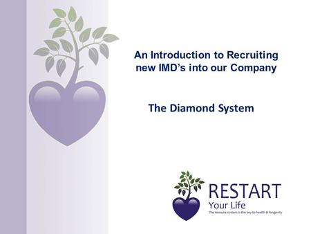 An Introduction to Recruiting new IMD's into our Company The Diamond System.