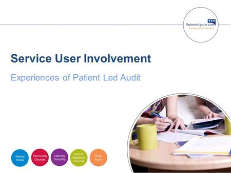 Service User Involvement Experiences of Patient Led Audit.