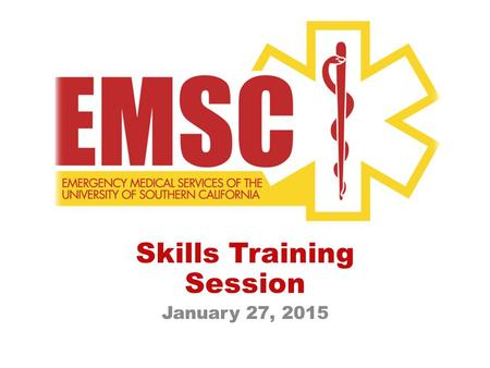 Skills Training Session January 27, 2015. Scene Size Up MOI How many patients? Need for Additional Resources? C-spine? Environmental hazards? Personal.
