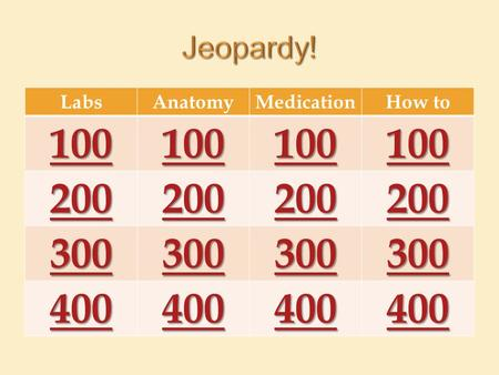 LabsAnatomyMedicationHow to 100 200 300 400. What is normal oxygenation?