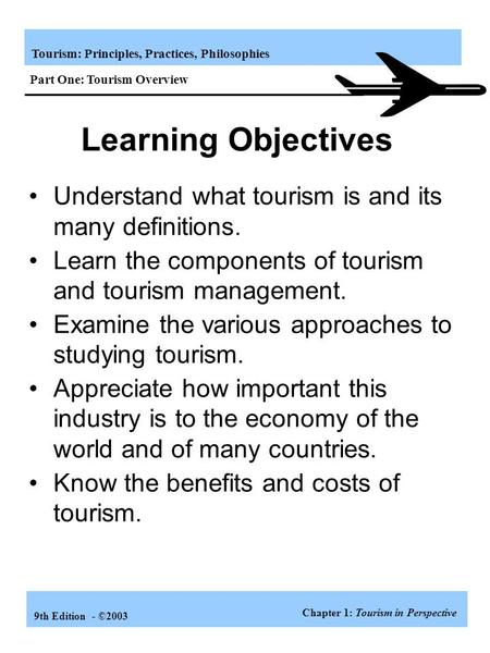 Part One: Tourism Overview