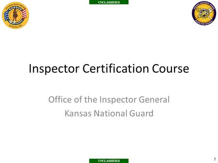 Inspector Certification Course