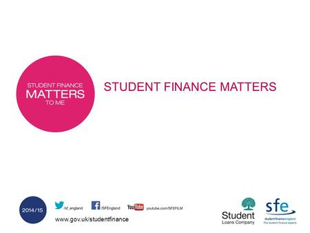 Www.gov.uk/studentfinance STUDENT FINANCE MATTERS.