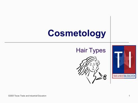 ©2003 Texas Trade and Industrial Education1 Cosmetology Hair Types.